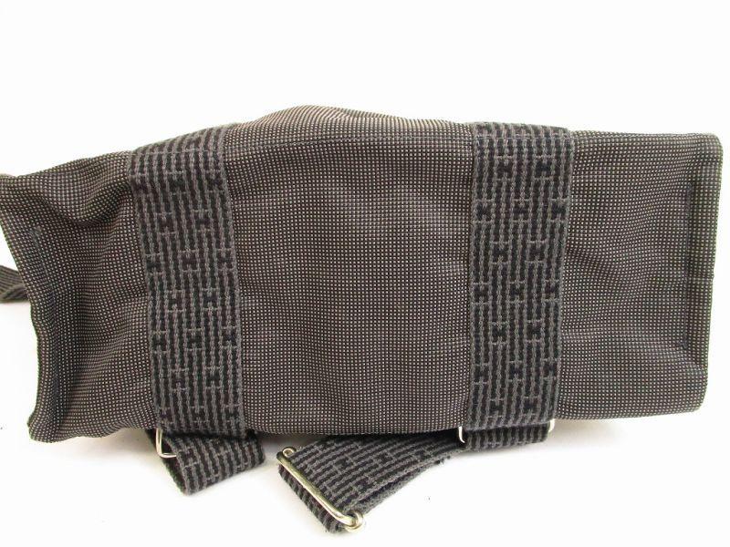 hermes canvas her line grays backpack bag mm w lock keys 5018 authentic brand shop tokyo 39 s. Black Bedroom Furniture Sets. Home Design Ideas