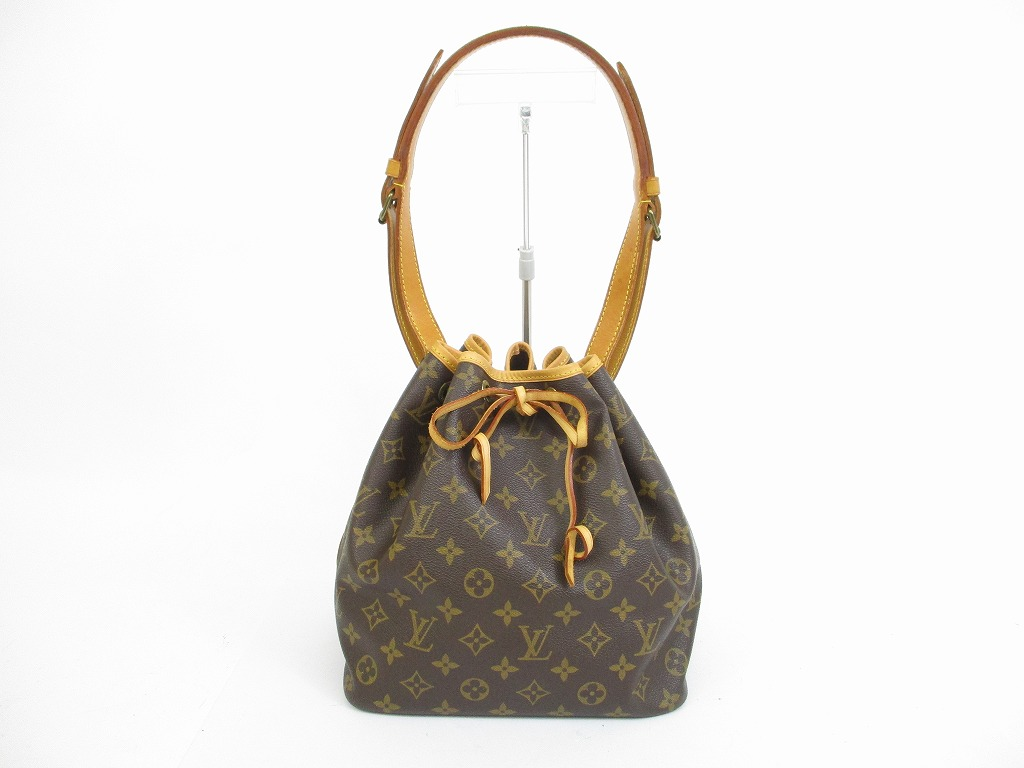 LOUIS VUITTON Monogram Leather Brown Shoulder Bag Purse ...