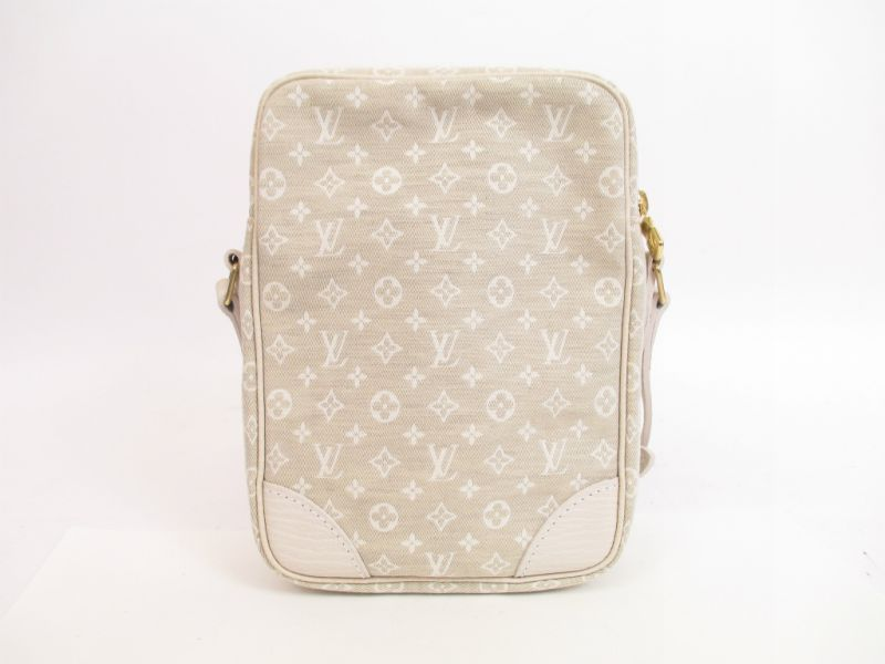 b26f9053ee07 LOUIS VUITTON Monogram Mini Lin Canvas White Cross-body Bag Danube  4132   270605-4132