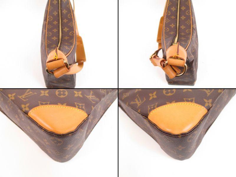 LOUIS VUITTON Monogram Leather Brown Shoulder Bag Purse Boulogne 35  4247   270701-4247  058eefabc735