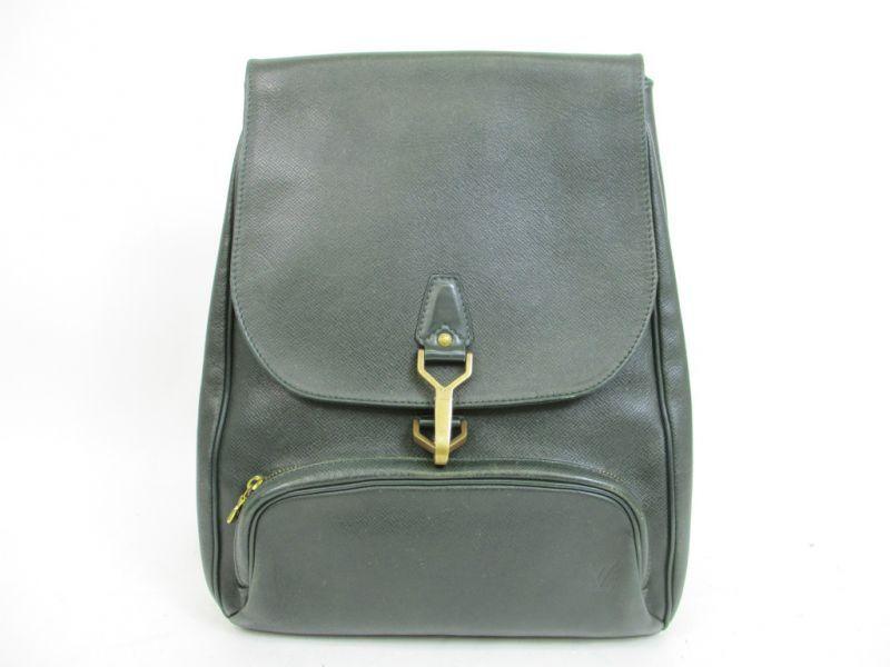 c1c38c582147 Louis Vuitton Taiga Leather Deep Green Backpack Bag Cassiar  4394  270804- 4394