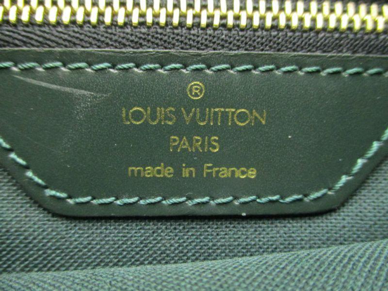 96623aab9ae3 Photo10  Louis Vuitton Taiga Leather Deep Green Backpack Bag Cassiar  4394