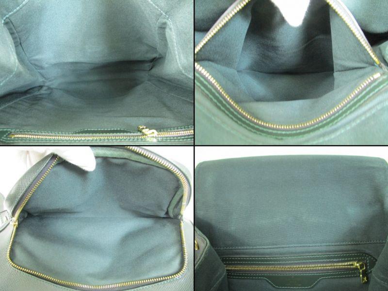 af35e13d49de Photo8  Louis Vuitton Taiga Leather Deep Green Backpack Bag Cassiar  4394