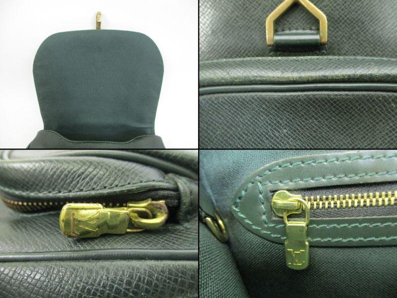 0f91ce6d123f Photo9  Louis Vuitton Taiga Leather Deep Green Backpack Bag Cassiar  4394
