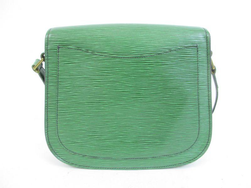d2f6cfc12c86 LOUIS VUITTON Epi Leather Green Cross-body Bag Saint Cloud GM  4414   270804-4414