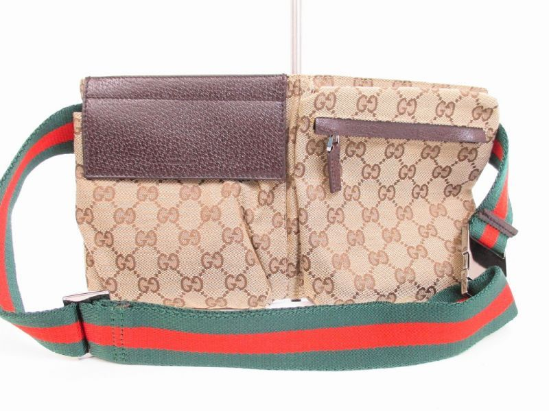 86280ede4726 GUCCI GG Canvas Brown Fanny Packs Waist Packs Body Bag Purse #4580  [270912-4580]