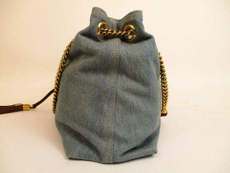 a14026ed2 GUCCI Soho Denim Blue Chain Tote Bag Shoulder Bag #4792 - Authentic ...