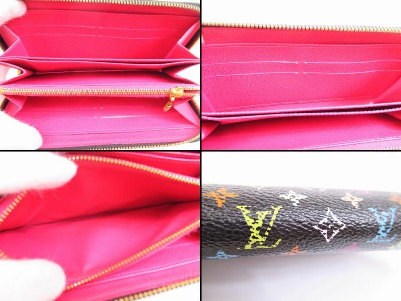 d53ee232543b LOUIS VUITTON Leather Multi-color Black Zip Around Zippy Wallet Purse  4961   271120-4961