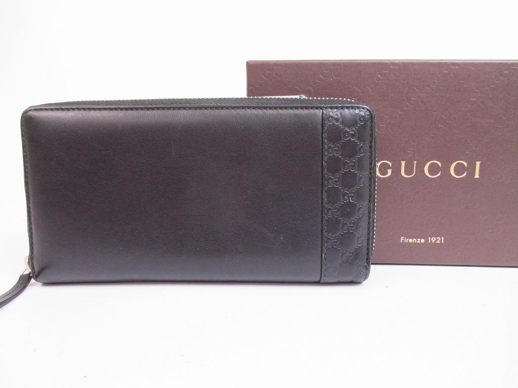 554c6f50e5b51 GUCCI Guccissima Leather Black Zip Around Wallet Purse  4990  271125-4990