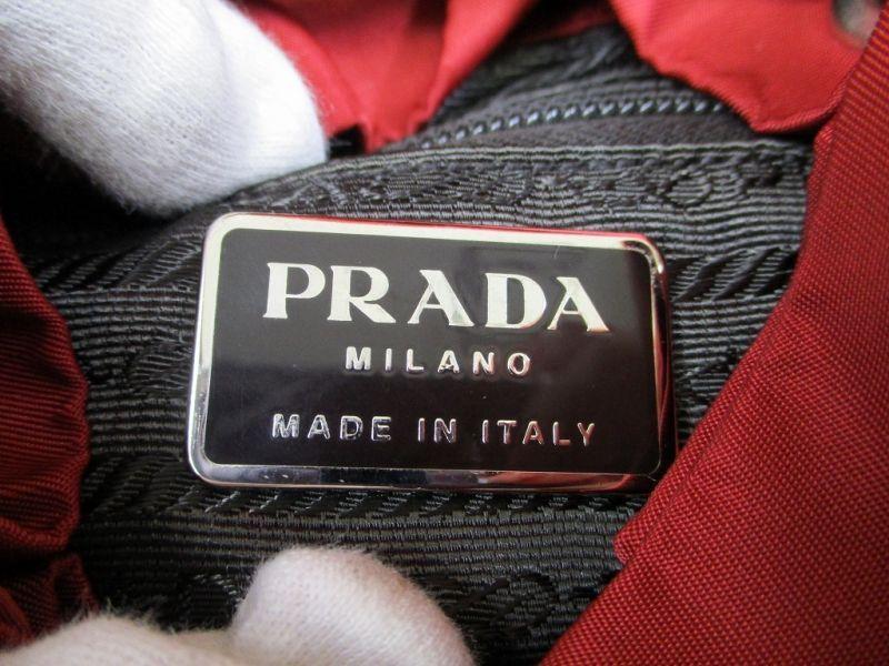 5e18b86949e1 PRADA Nylon CHERRY Red Backpack Bag Purse  5176 - Authentic Brand ...