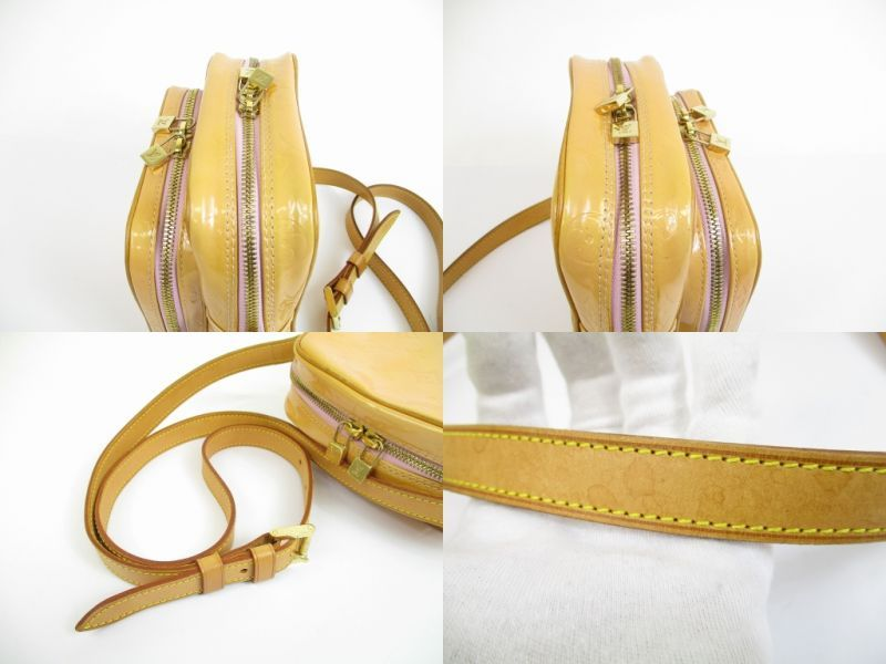 a7509e8e4dfb LOUIS VUITTON Vernis Patent Leather Pink Cross-body Bag Wooster  5233   280212-5233
