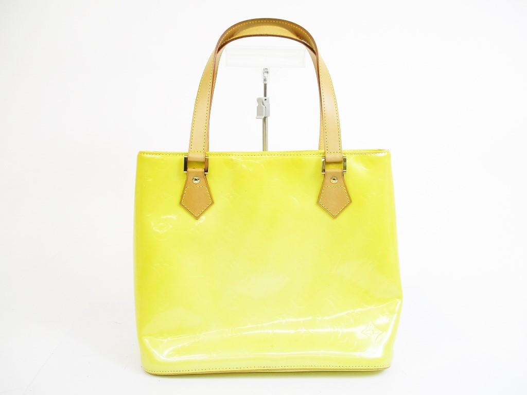 76011de77741 LOUIS VUITTON Vernis Patent Leather Yellow Tote Shoppers Bag Houston  5297   280302-5297