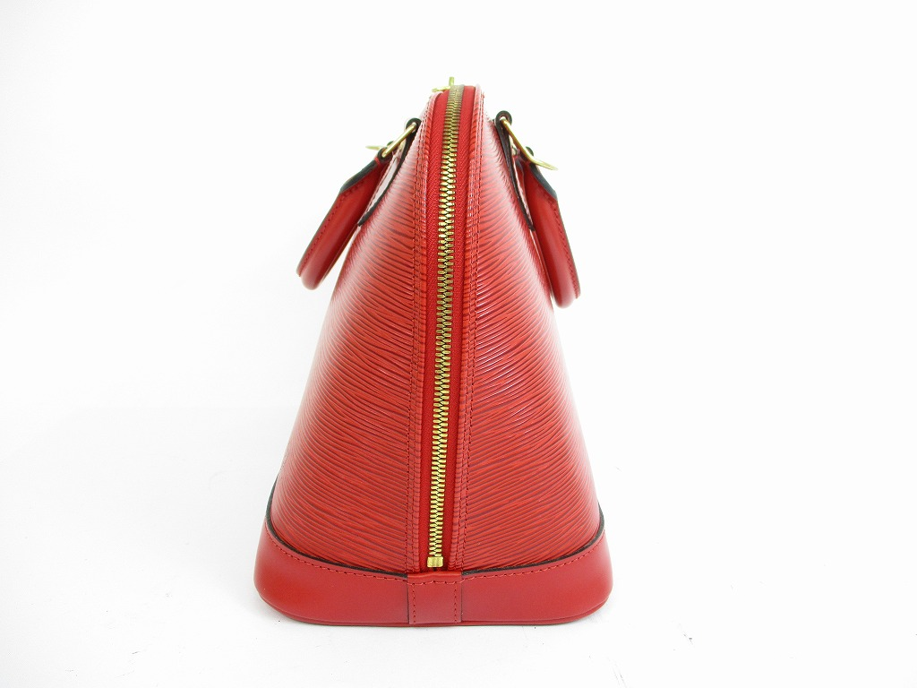 528cf4f6c5f LOUIS VUITTON Epi Leather Red Hand Bag Purse Alma  5471 - Authentic ...
