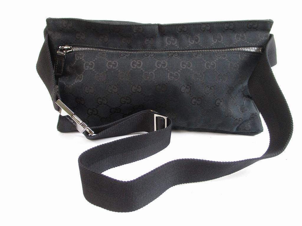 f45fe72a01b0 GUCCI GG Canvas Black Fanny&Waist Packs Belt Bag Purse #5665 [280713-5665]