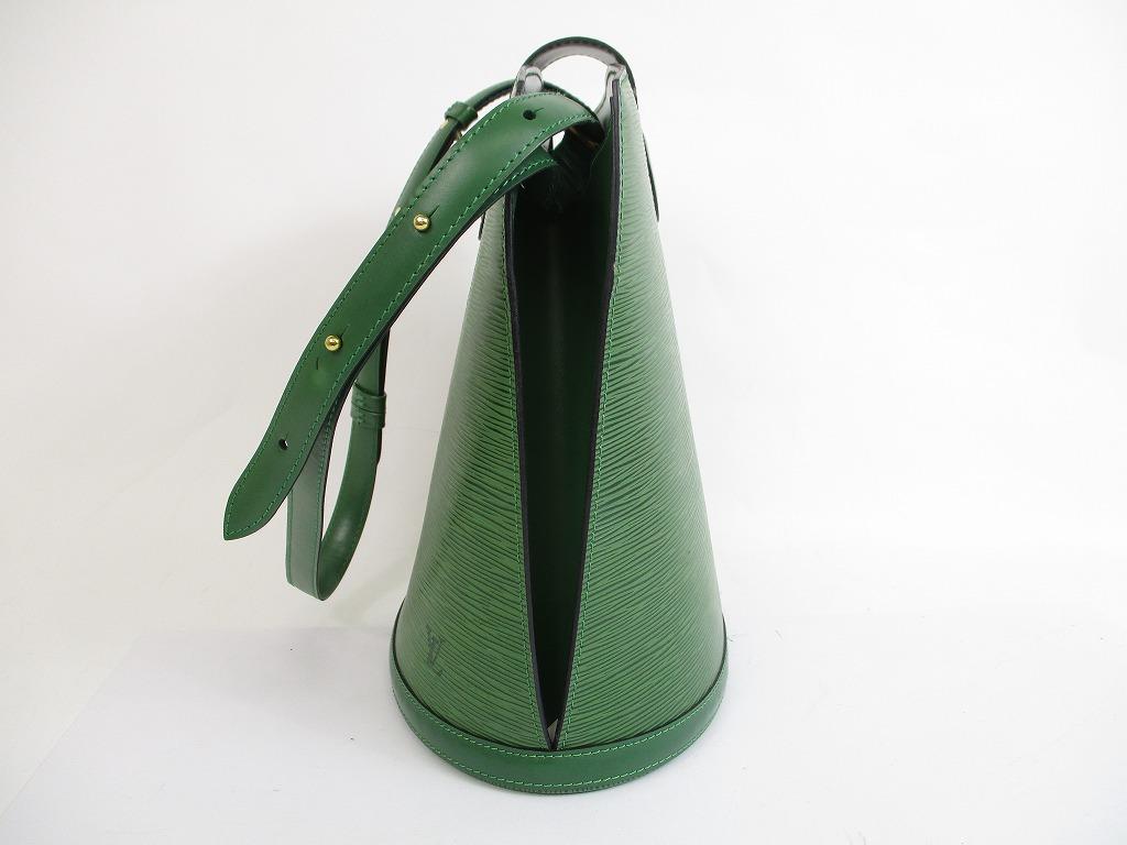LOUIS VUITTON Epi Leather Green Shoulder Bag Cross-body Bag Cluny  5687   280722-5687  4602886ac7760