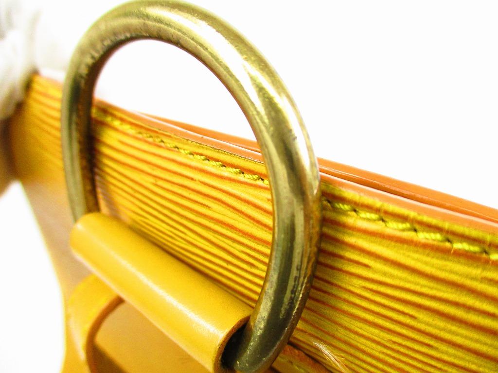 59fa151583d8 LOUIS VUITTON Epi Leather Yellow Backpack Bag Purse Gobelins  5774  280904- 5774