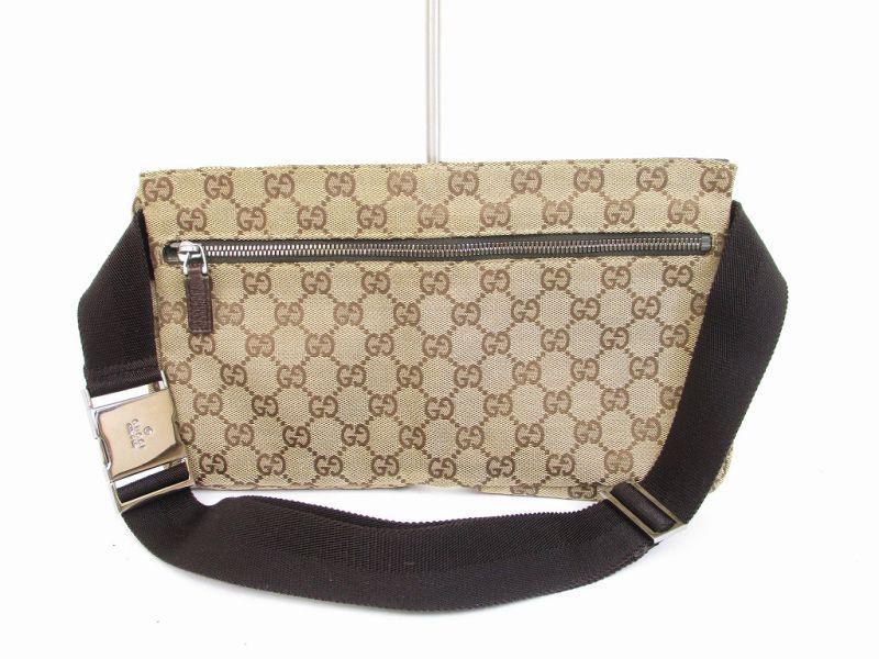 c01f396f5329c GUCCI GG Canvas Brown Fanny Waist Packs Belt Bag Purse  6105  6105