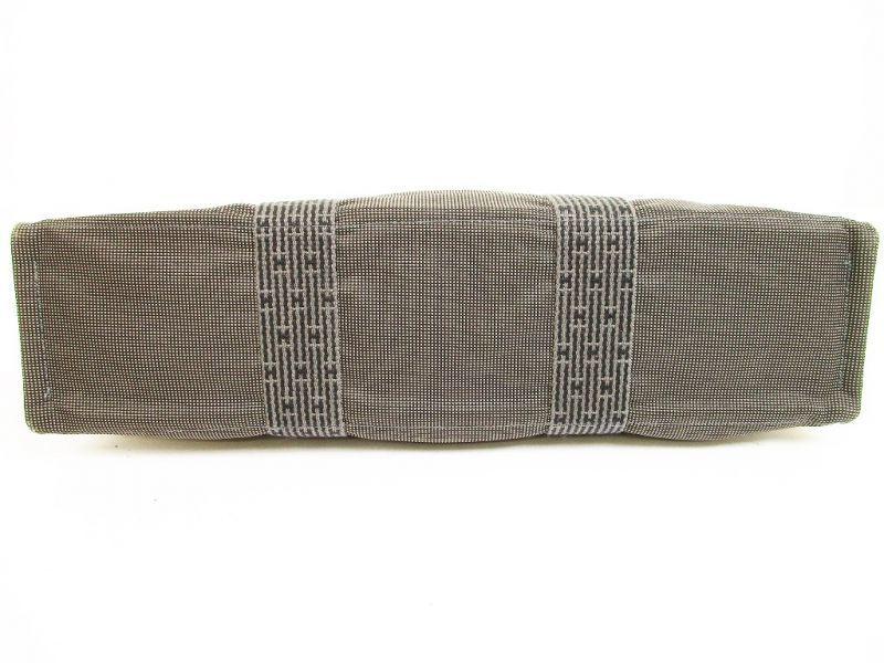 hermes canvas her line gray hand bag tot bag mm purse 6129 authentic brand shop tokyo 39 s. Black Bedroom Furniture Sets. Home Design Ideas