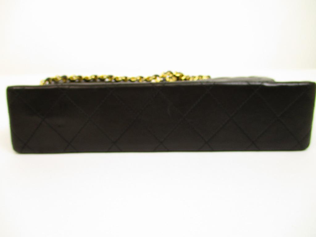 CHANEL Lamb Leather Matelasse Blacks Double Flap Chain Shoulder Bag  6202   6202  5245be1581181
