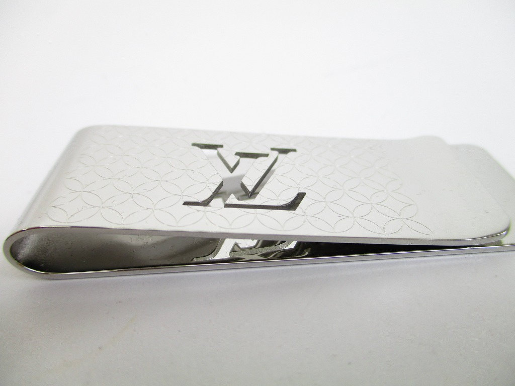 8f22506414 LOUIS VUITTON Stainless Steel Champs Elysees Bill Money Clip #6423