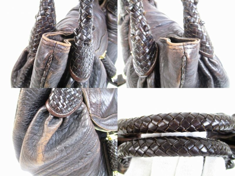 ... promo code for fendi braided handle brown leather zucca spy bag hand bag  purse 6487 6487 7f909b0a0bc21