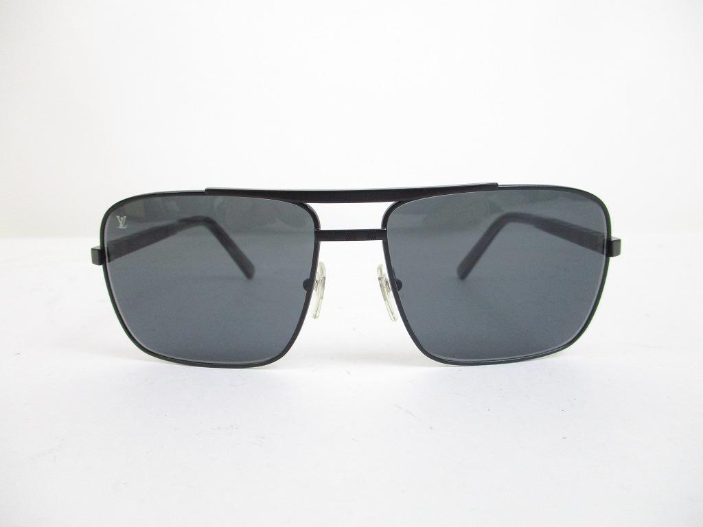 6fd2fc0dfa LOUIS VUITTON Damier Metal Black Sunglasses Eye Wear Attitude  6529  6529