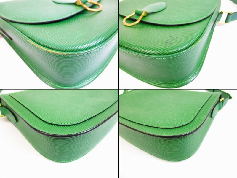 2451a4125b82 LOUIS VUITTON Epi Leather Green Crossbody Bag Saint Cloud GM  6678  6678