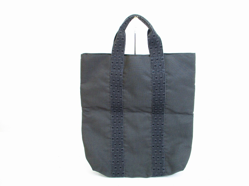 314560e7a ... coupon for hermes canvas her line gray hand bag tote bag purse cabas  6679 6679 64c28