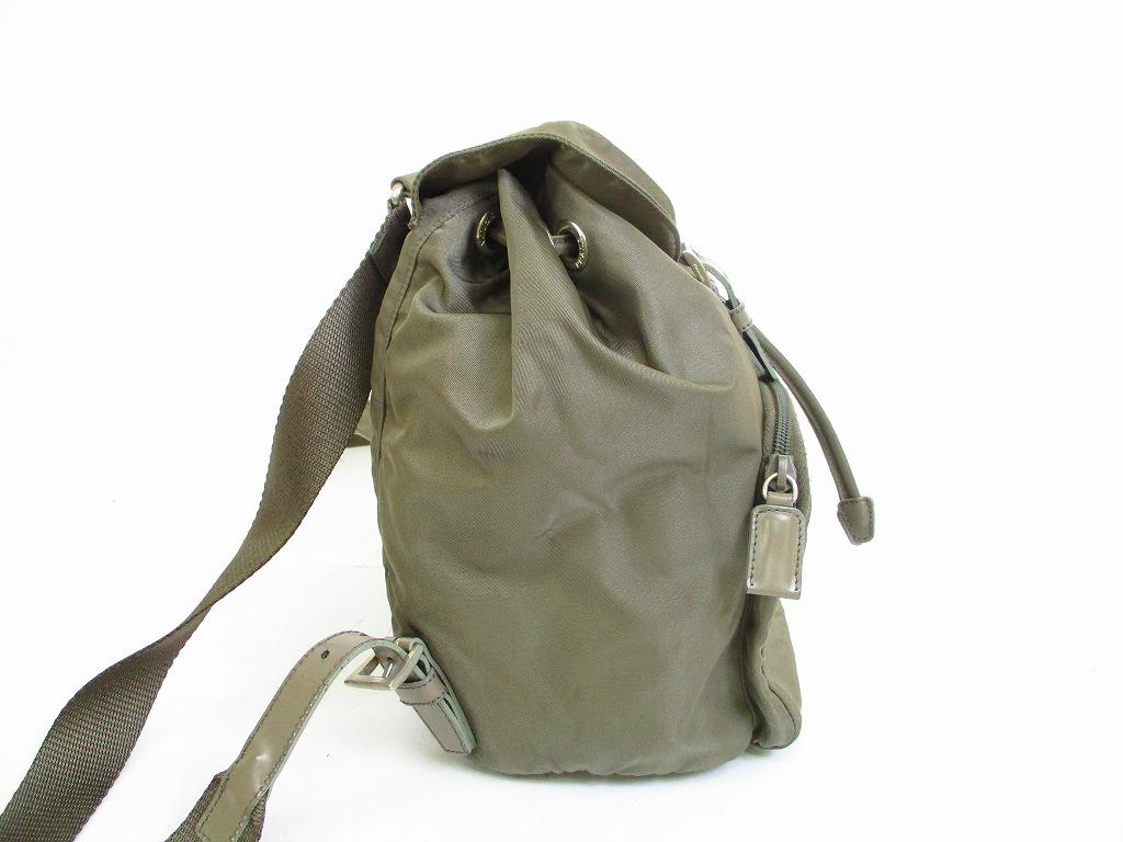 fb49470004ab ... sweden prada nylon fumo khaki backpack bag purse 6744 6744 987e5 2964c