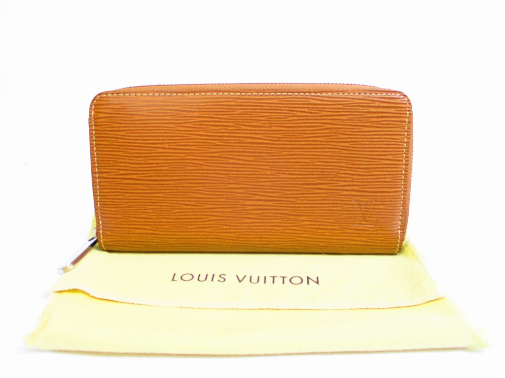 cf986be1fadd LOUIS VUITTON Epi Leather Cacao Brown Zip Around Zippy Wallet Purse  6898   6898