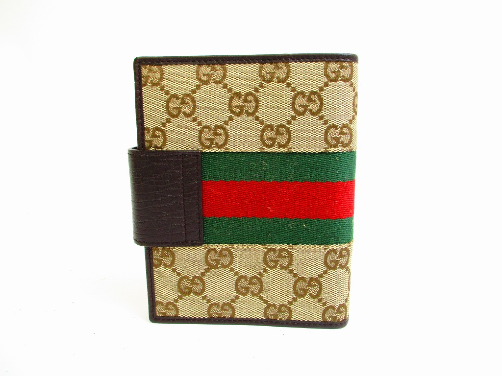 517d1562e673 GUCCI GG Canvas Brown Document Holders Agenda  6899 - Authentic ...