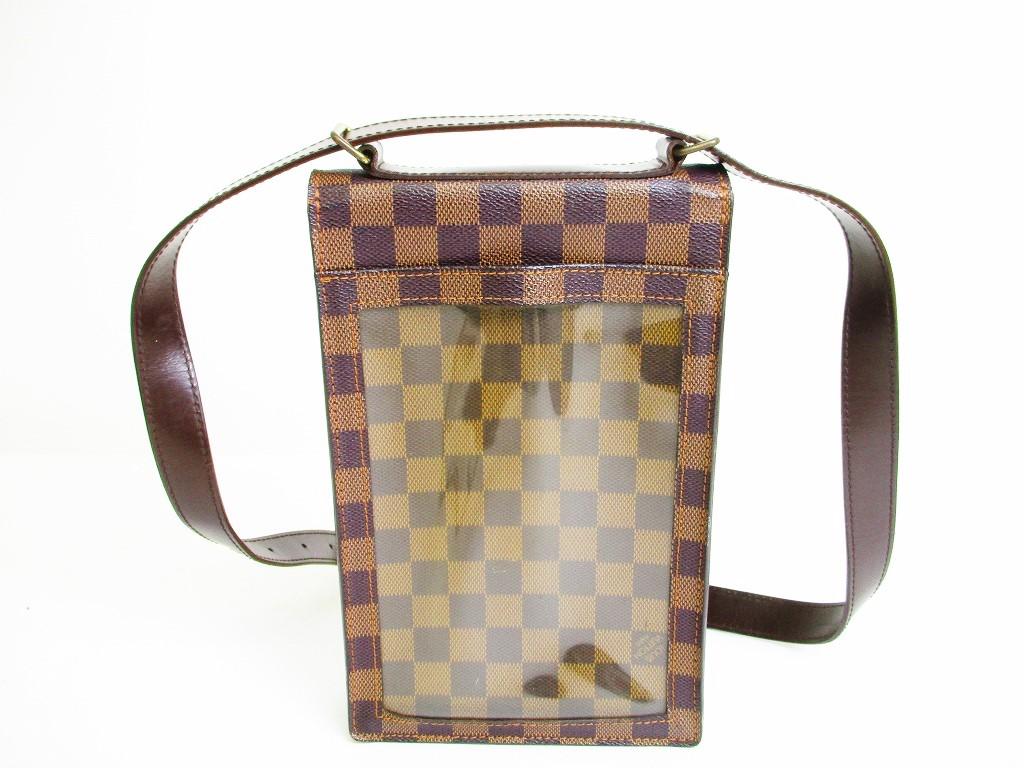 91dad31f6c2f LOUIS VUITTON Damier Leather Brown Crossbody Bag Purse Portobello  6992   6992