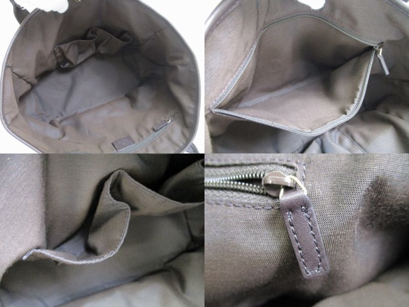 4fd235a374b GUCCI GG Brown Canvas Double G Tote Bag Shoppers Bag Purse  7026  7026