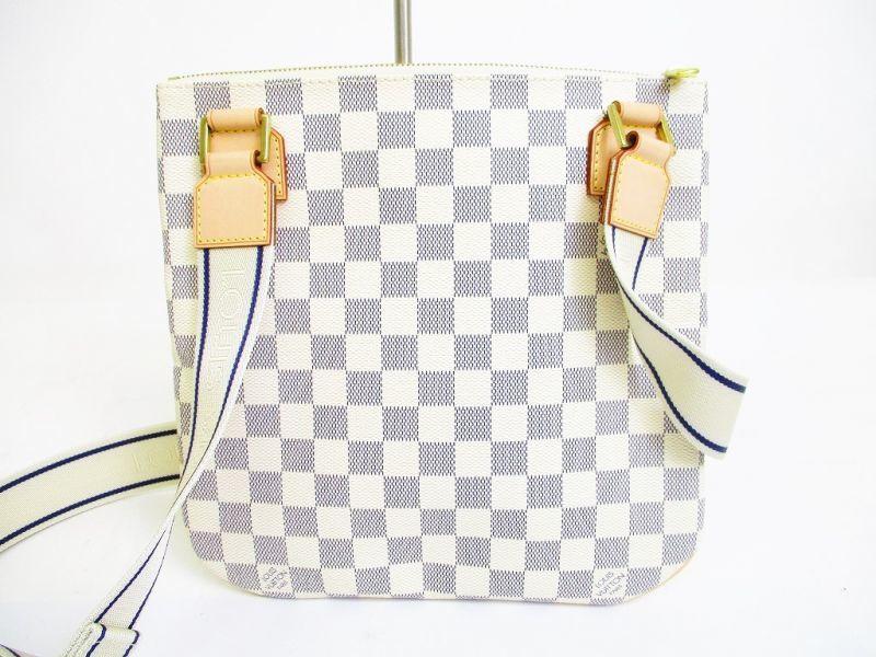 Louis Vuitton Azur White Leather Crossbody Bag Purse Pohette
